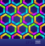 Seamless background with colorful hexagons Stock Photo