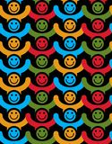 Seamless background with colorful smiley faces. People Royalty Free Stock Photography