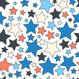 Seamless background with colorful stars Royalty Free Stock Photos