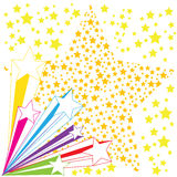 Seamless background with colorful stars. Vector Stock Image