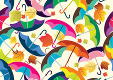 Seamless background with colorful umbrellas Stock Photography