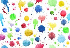 Seamless background of colour drops Stock Photos