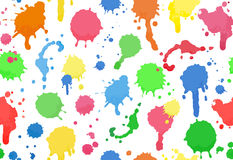 Seamless background of colour drops Stock Image