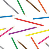 Seamless background with coloured pencils Stock Image