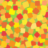 Seamless background with coloured squares. Seamless pattern: Yellow, orange and red squares on the green background Stock Images