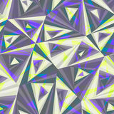 Seamless background composed of pieces of triangular shape, overlapping each other. Seamless background in cool colours, made from pieces of triangular shapes stock illustration
