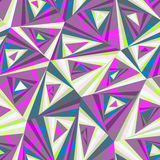 Seamless background composed of pieces of triangular shape, overlapping each other. Seamless pattern composed of triangular pieces of different colors vector illustration