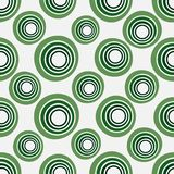 Seamless background of concentric circles in neon green colors on white. Retro pattern, inspired by the 60s royalty free illustration