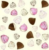 Seamless  background. Confectionery pattern . Illu Royalty Free Stock Photography
