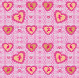 Seamless background consisting of hearts for Valentines day. Vector Illustration Royalty Free Stock Photo