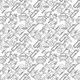 Seamless background for construction tools Royalty Free Stock Photo