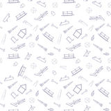 Seamless background from construction tools. vector illustration