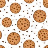 Seamless background with cookies. Vector illustration. Stock Image