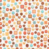 Seamless Background with cookies Royalty Free Stock Photos