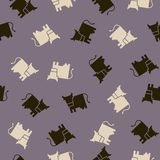 Seamless background: cow royalty free illustration