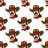 Seamless background with cowboy Royalty Free Stock Photo