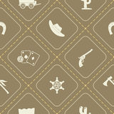 Seamless background with cowboys and wild west theme. For your design vector illustration