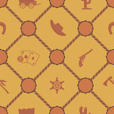 Seamless background with cowboys and wild west theme. For your design Royalty Free Stock Photography