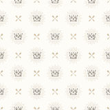 Seamless background with crowns and arrows. Seamless background with royal crown and crossed arrows - pattern for wallpaper, wrapping paper, book flyleaf Stock Images