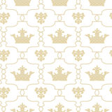 Seamless background with crowns and Fleur de lis Royalty Free Stock Photos