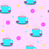 Seamless background with cups royalty free stock image