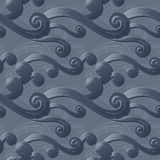 Seamless background with curved lines Royalty Free Stock Image