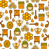 Seamless background with cute cartoon hand drawn royalty free illustration
