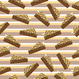 Seamless background with cute chocolate cake suitable for children wallpaper and scrap paper. Seamless background with cute chocolate cake suitable for children Stock Photography