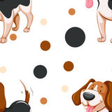 Seamless background with cute dog Stock Image
