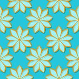 Seamless background with 3d floral blue and orange elements. Vector illustration vector illustration