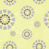 Seamless background with decor circles Royalty Free Stock Photo