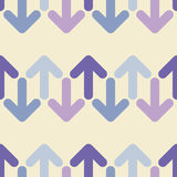 Seamless background with decorative arrows. Flat design. Royalty Free Stock Photo