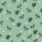 Seamless background with decorative birds, hand-drawing. Vector.  Royalty Free Stock Photography