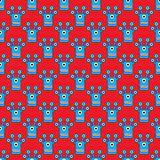 Seamless  background with decorative colorful monsters Royalty Free Stock Photo