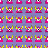 Seamless  background with decorative colorful monsters Royalty Free Stock Photography