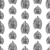 Pattern of the vintage elements sketches. Seamless background of the decorative drawn elements Stock Photos