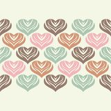 Seamless background with decorative hearts. Valentine`s day. Vector illustration. Can be used for wallpaper, textile, invitation card, wrapping, web page vector illustration