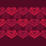 Seamless background with decorative hearts. Valentine`s day. Vector illustration. Can be used for wallpaper, textile, invitation card, wrapping, web page royalty free illustration