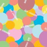 Seamless  background with decorative ice cream. Seamless background with decorative ice cream Stock Image