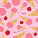 Seamless  background with decorative ice cream Stock Photo