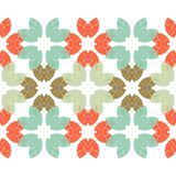 Seamless background with decorative leaves. Autumn leave. Flower mosaic. Textile rapport Vector Illustration