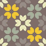 Seamless background with decorative leaves. Autumn leave. Flower mosaic. Textile rapport Royalty Free Illustration