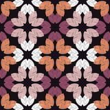 Seamless background with decorative leaves. Autumn leave. Flower mosaic. Textile rapport Stock Illustration