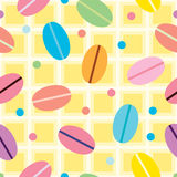 Seamless  background with decorative macarons Royalty Free Stock Photography