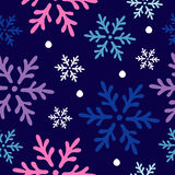 Seamless background with decorative snowflakes Stock Images