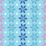 Seamless background with decorative snowflakes Stock Photography