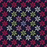 Seamless background with decorative snowflakes Royalty Free Stock Images