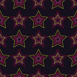 Seamless background with decorative stars. Dots texture. Stock Photos