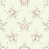 Seamless background with decorative stars. Dots texture. Stock Photo