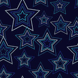 Seamless background with decorative stars. Dots texture. Royalty Free Stock Photography